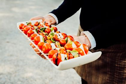 canapes wedding food