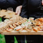 Delicious wedding food canapes chefs
