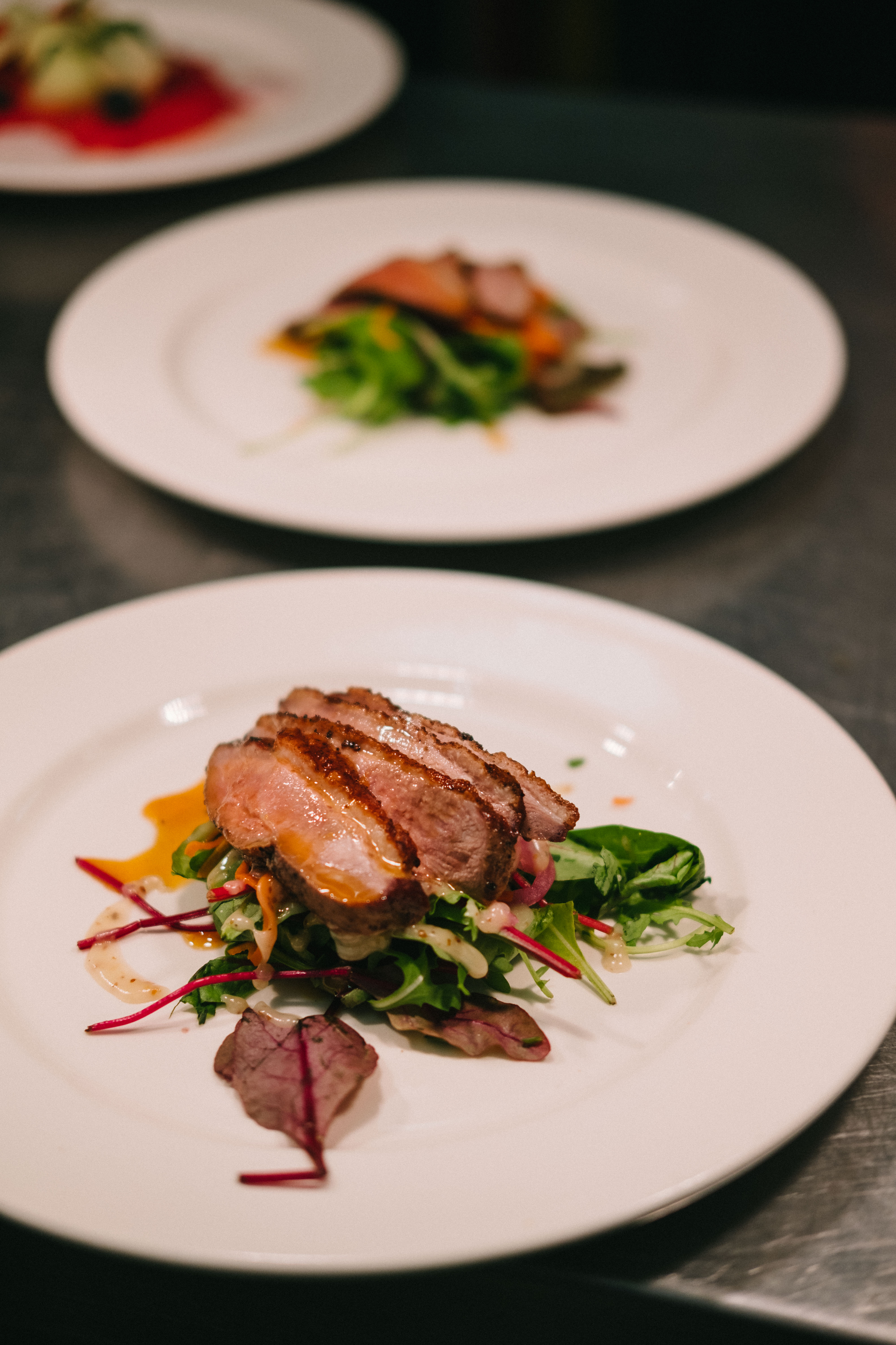 Starter wedding food duck salad chef