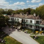 drone country house wedding venue