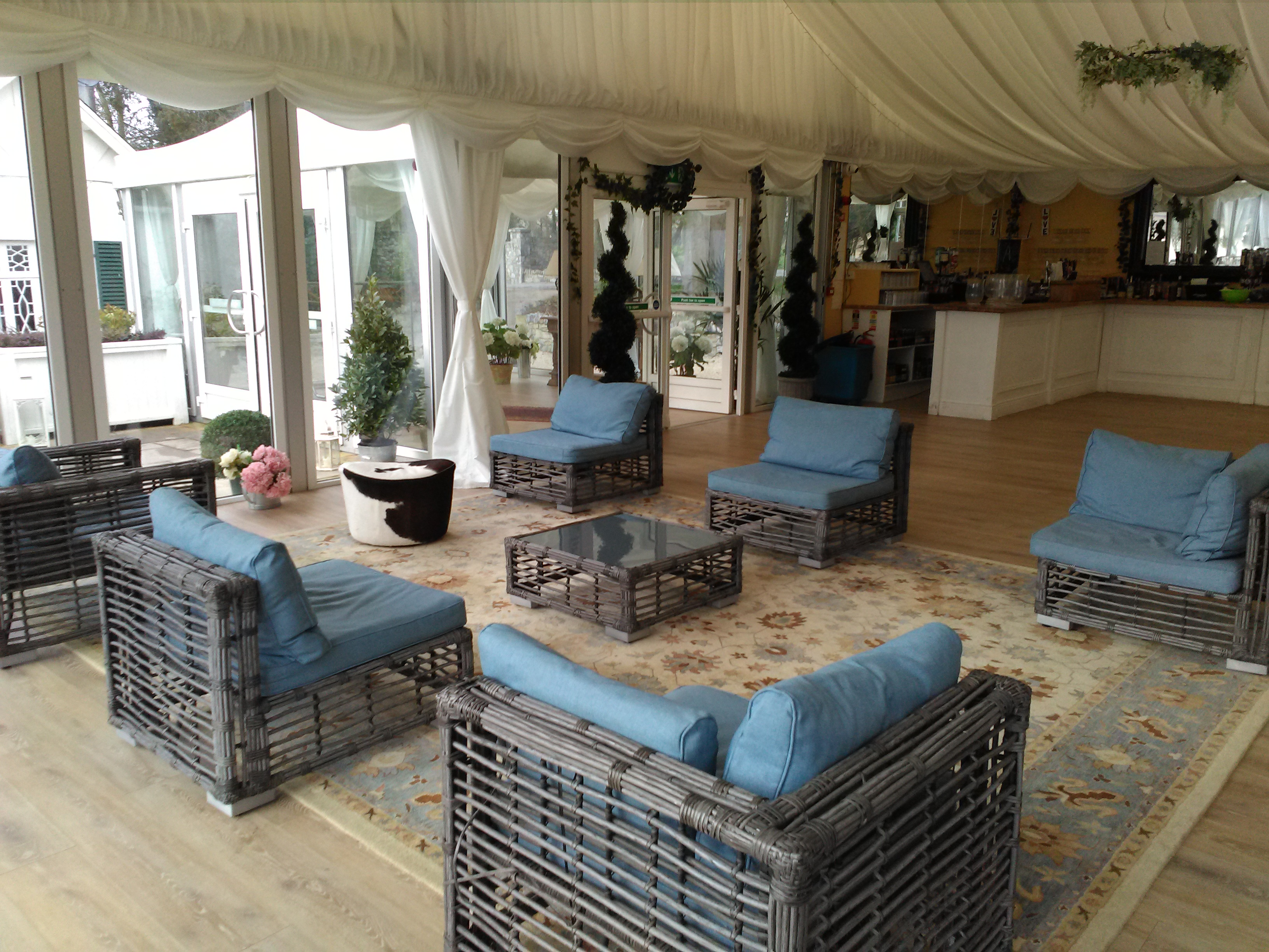 bar wedding venue marquee sofa chill out