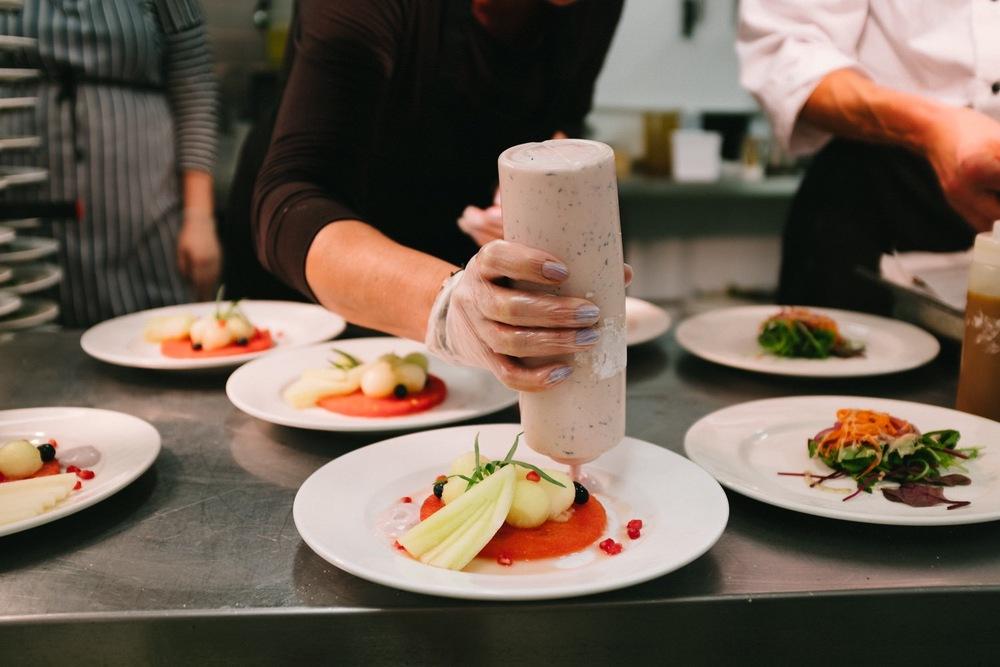 Wedding food menu chefs